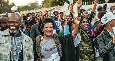 HAPPINESS AND NEW HOPE FOR SOUTH AFRICANS